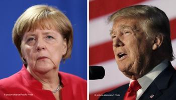Znalezione obrazy dla zapytania Trump zlekceważył Merkel