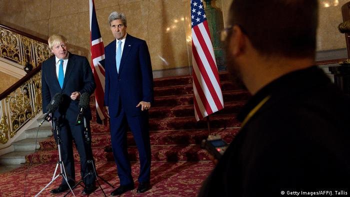 Großbritannien USA Besuch US-Außenminister John Kerry - Boris Johnson in London (Getty Images/AFP/J. Tallis)