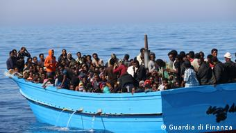 Many refugees end up in Italy (Photo Guardia di Finanza)