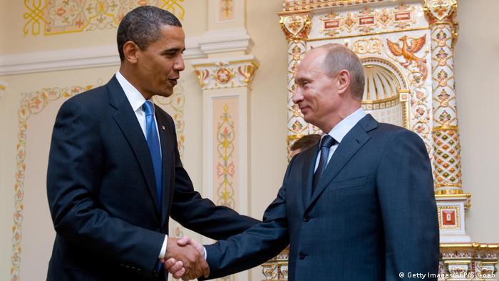 Russland Barack Obama und Wladimir Putin (Getty Images/AFP/S. Loeb)