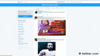 Screenshot Twitter #RecoverSalmanHaider (twitter.com)