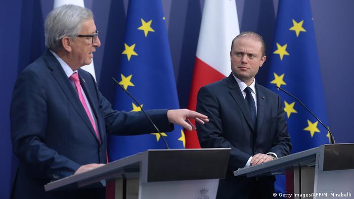 Juncker & Muscat in Valletta (Getty Images/AFP/M. Mirabelli)