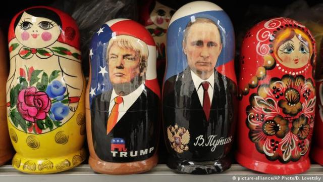 Donald Trump and Vladimir Putin nesting dolls