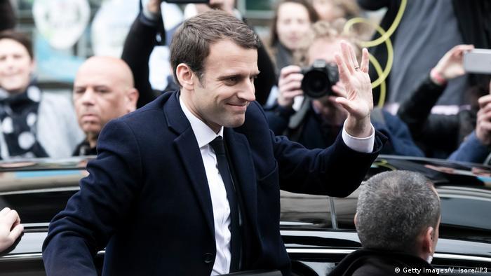 Präsidentschaftswahl in Frankreich Emmanuel Macron (Getty Images/V. Isore/IP3)