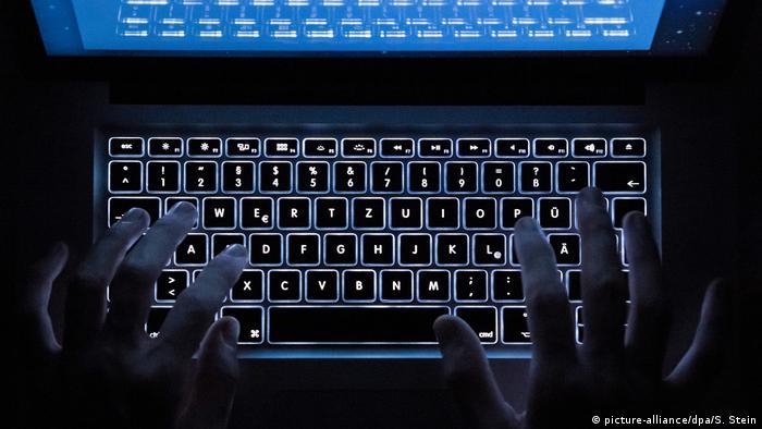 Illustration - Cyberkriminalität Darknet (picture-alliance/dpa/S. Stein)
