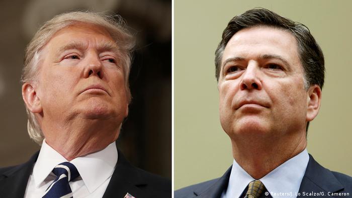 Bildkombo U.S. Präsident Donald Trump und FBI Direktor James Comey (Reuters/J. Lo Scalzo/G. Cameron)