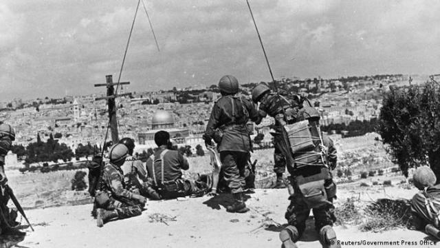 Jerusalem 1967 Blick vom Ölberg (Reuters / Government Press Office)
