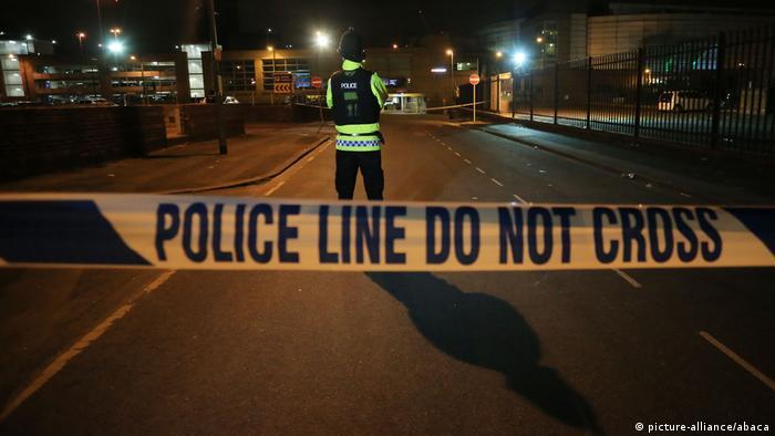 Großbritannien Polizeieinsatz nach Explosion in Manchester (picture-alliance/abaca)