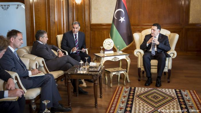 Germany's foreign minister in Libya