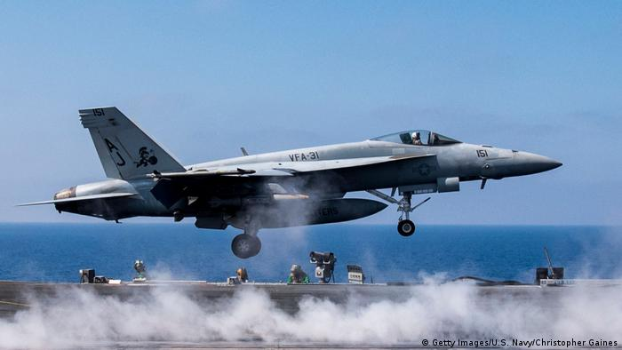USA Syrien F/A-18E Super Hornet in Aktion (Getty Images/U.S. Navy/Christopher Gaines)
