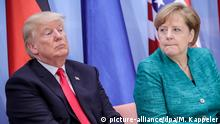 Trump & Merkel (picture-alliance/dpa/M. Kappeler)
