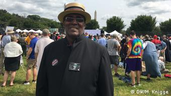 Reverend Gary Waters in Washington (DW/M. Knigge)