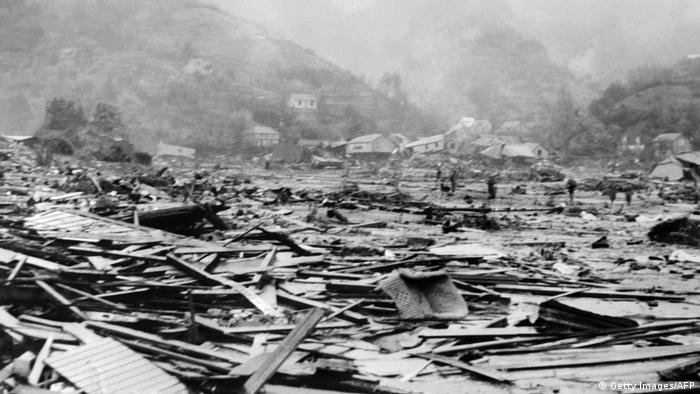 Damage from the Chilean earthquake of 1960 (Getty Images/AFP)