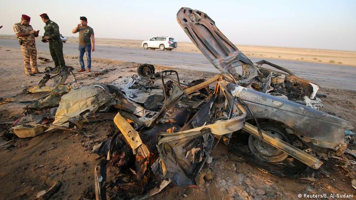 Irak Doppelanschlag in der Nähe von Nassirijah (Reuters/E. Al-Sudani)
