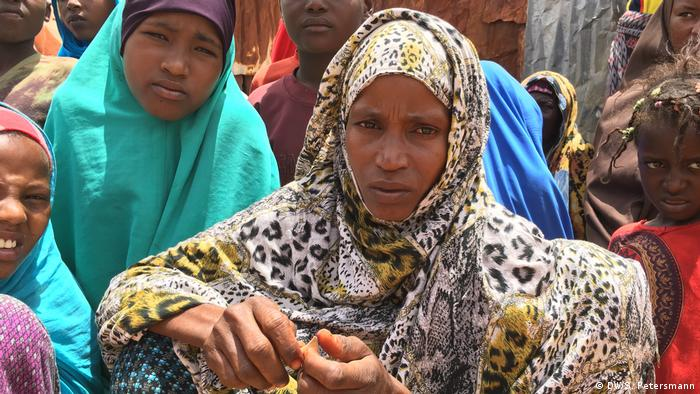 Marian in Mogadishu's refugee camp (DW/S. Petersmann)