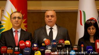 Speaker of the IKRG Independent High Election and Referendum Commission Hindirin Mohammed declares Kurdish independence referendum results.