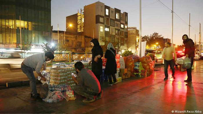 Spendenaktionen für die Erdbebenopfer in verschiedenen Städten Irans. (Mizan/A.Reza Abba)