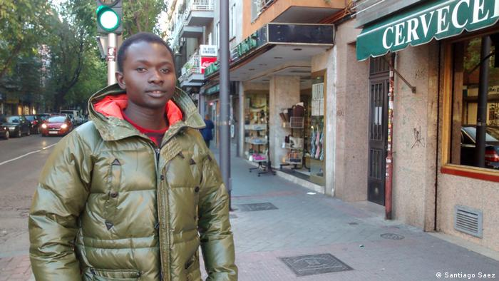 An African migrant in Spain