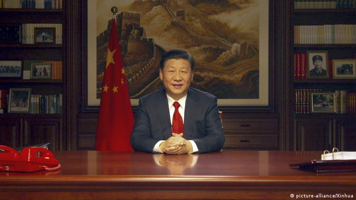 China Neujahrsansprache von Xi Jinping (picture-alliance/Xinhua)