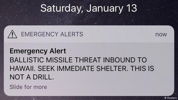 The Emergency Alert sent the state's residents into a panic