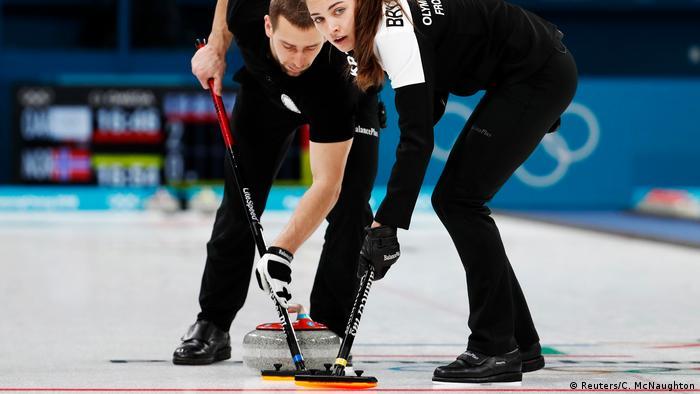 Pyeongchang 2018 Winter Olympics Curling Russland vs Norwegen (Reuters/C. McNaughton)