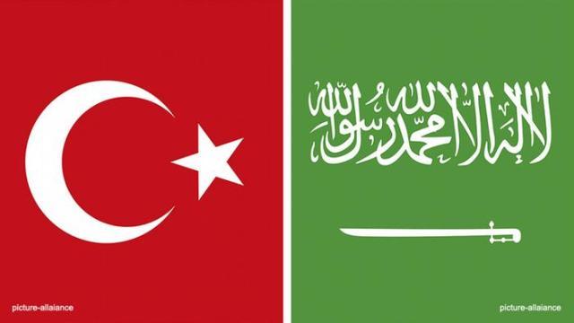 Türkei, Saudi-Arabien, Flaggen