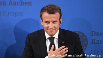 Verleihung Internationaler Karlspreis an Macron (picture-alliance/dpa/I. Fassbender)