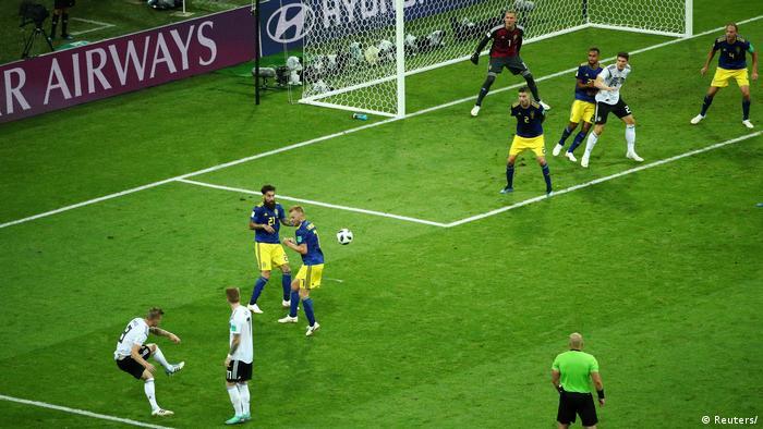 Toni Kroos scores Germany's second goal (Reuters/)