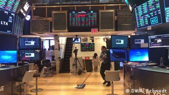 USA Lauren Simmons, Aktienhändlerin New York Stock Exchange (DW/A. Schwedt)