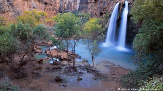 Havasu Falls in Grand Canyon National Park, Arizona, USA (picture- / alliance / Bildagentur-online)