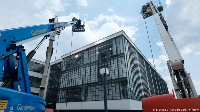 El nuevo museo de la Bauhaus en Dessau. (picture alliance/dpa/S. Willnow)