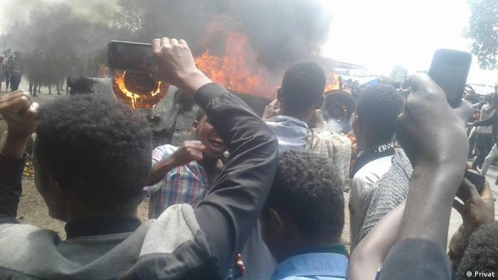 Äthiopien Unruhen in Shashemene (Privat)