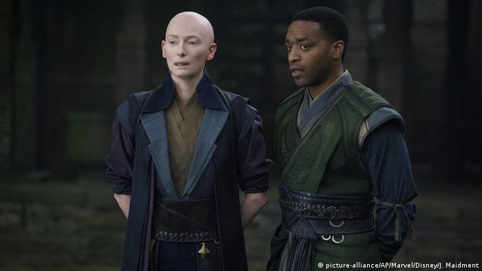 Tilda Swinton as The Ancient One in a scene from Marvel's Doctor Strange. The character is Asian in the comic books that are the basis for the movie.