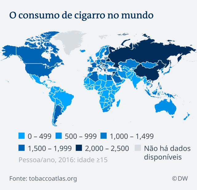 Infografik Weltkarte Tabakkonsum PT