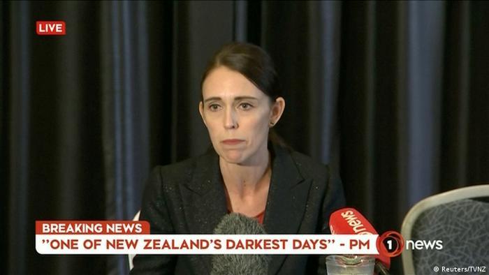 Neuseeland Angriff auf Moscheen in Christchurch | Jacinda Ardern, Premierministerin (Reuters/TVNZ)