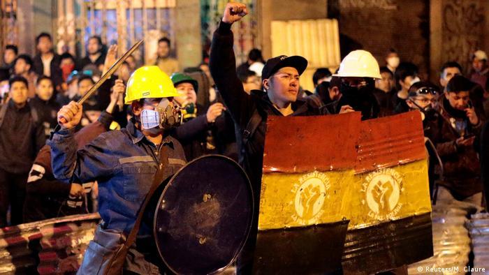 Bolivien La Paz Proteste gegen Präsident Morales