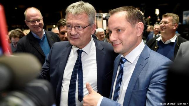 Newly elected chairmen of Germany's far-right Alternative for Germany (AfD) party, Jörg Meuthen and Tino Chrupalla