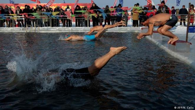 China Harbin Swimming Competition in Songhua River (AFP / N. Celis)