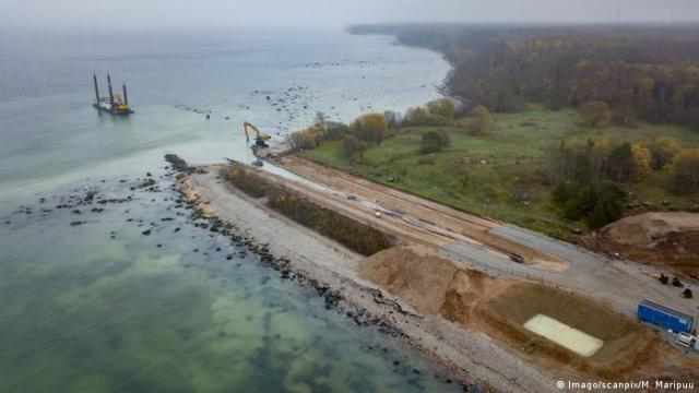 Construction of the Balticconnector gas pipeline