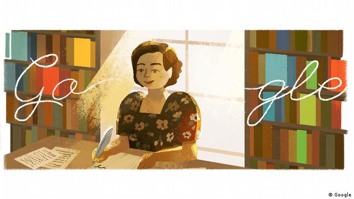 Genoveva Matute in a Google doodle. (Google)