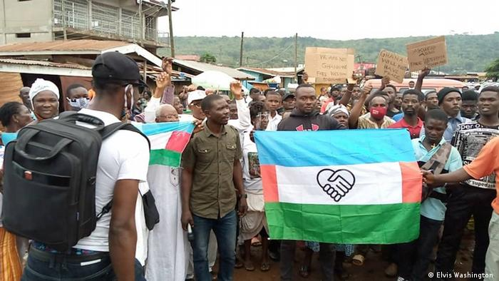 Demonstration for the Western Togoland Ghana Volta Region