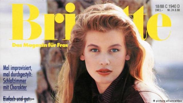 Claudia Schiffer auf dem Titelbild der Brigitte (picture-alliance/dpa)