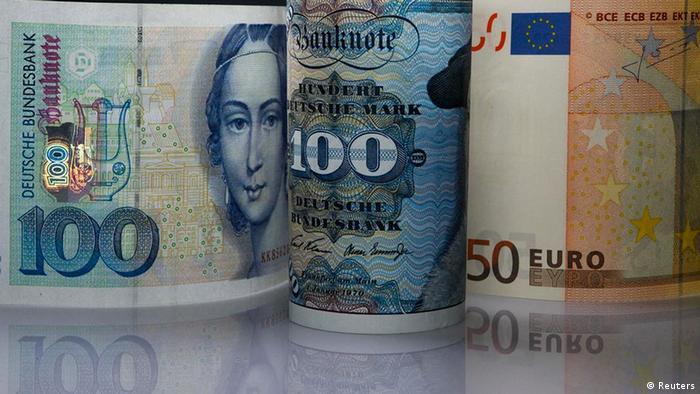 Hay alemanes nostálgicos del marco, su antigua moneda