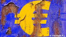 A euro symbol in peeling paint