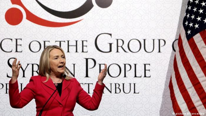 Hillary Clinton speaks during a press conference