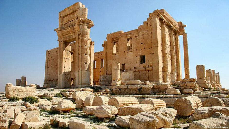 The fortified Temple of Bel in Palmyra, Syria