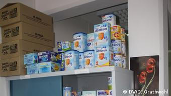 Provisons on a shelf in the clinic