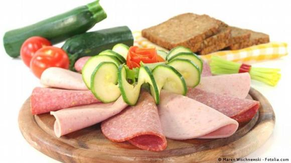Abendbrot, or evening bread, the German style dinner with a plate of ham, salami, cheese and some veggies - and of course German bread