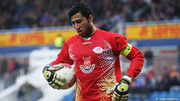 Goalkeeper Mansur Faqiryar playing for the VfB Oldenburg (Photo: imago/objectivo)