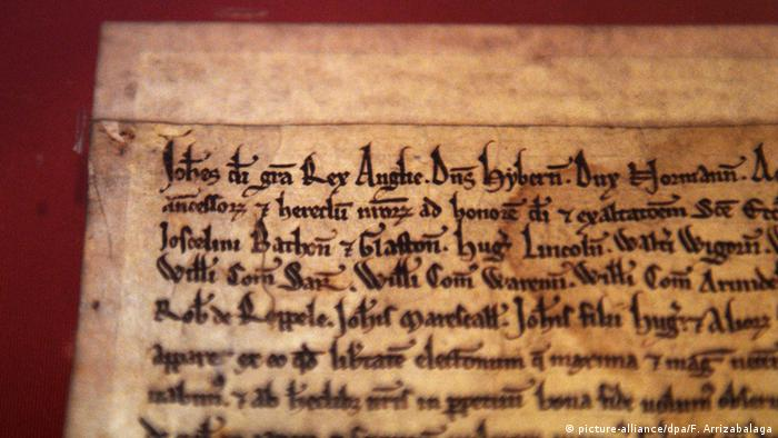 Großbritannien Magna Carta in The British Library